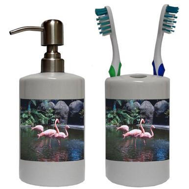 Flamingo Bathroom Set