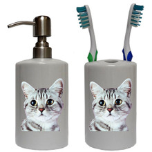 American Shorthair Cat Bathroom Set