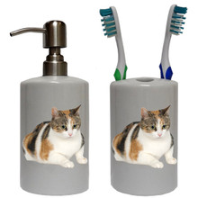 Calico Cat Bathroom Set