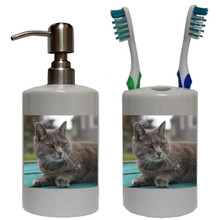 Cat Bathroom Set