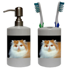 Persian Cat Bathroom Set