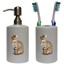 Savannah Cat Bathroom Set