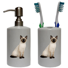 Siamese Cat Bathroom Set