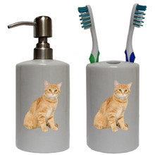Tabby Cat Bathroom Set