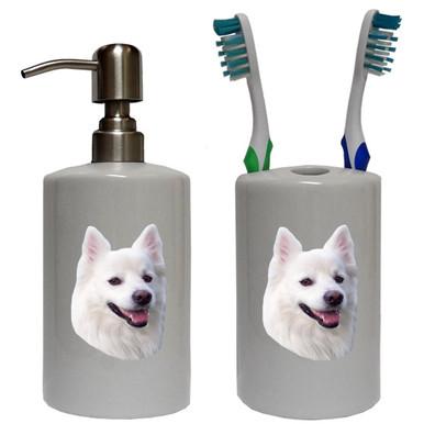 American Eskimo Dog Bathroom Set