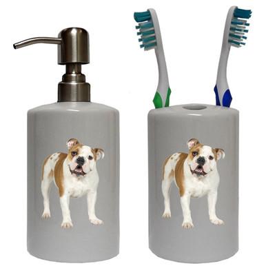 Bulldog Bathroom Set