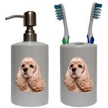 Cocker Spaniel Bathroom Set