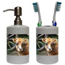 Cow Bathroom Set