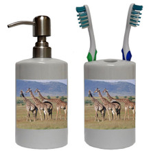 Giraffe Bathroom Set