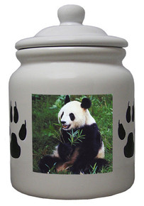 Panda Bear Ceramic Color Cookie Jar