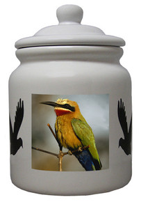 Bee Eater Ceramic Color Cookie Jar