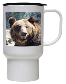 Bear Polymer Plastic Travel Mug