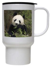 Panda Bear Polymer Plastic Travel Mug