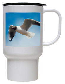 Black Headed Gull Polymer Plastic Travel Mug