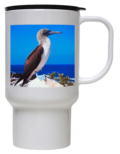 Blue Footed Booby Polymer Plastic Travel Mug