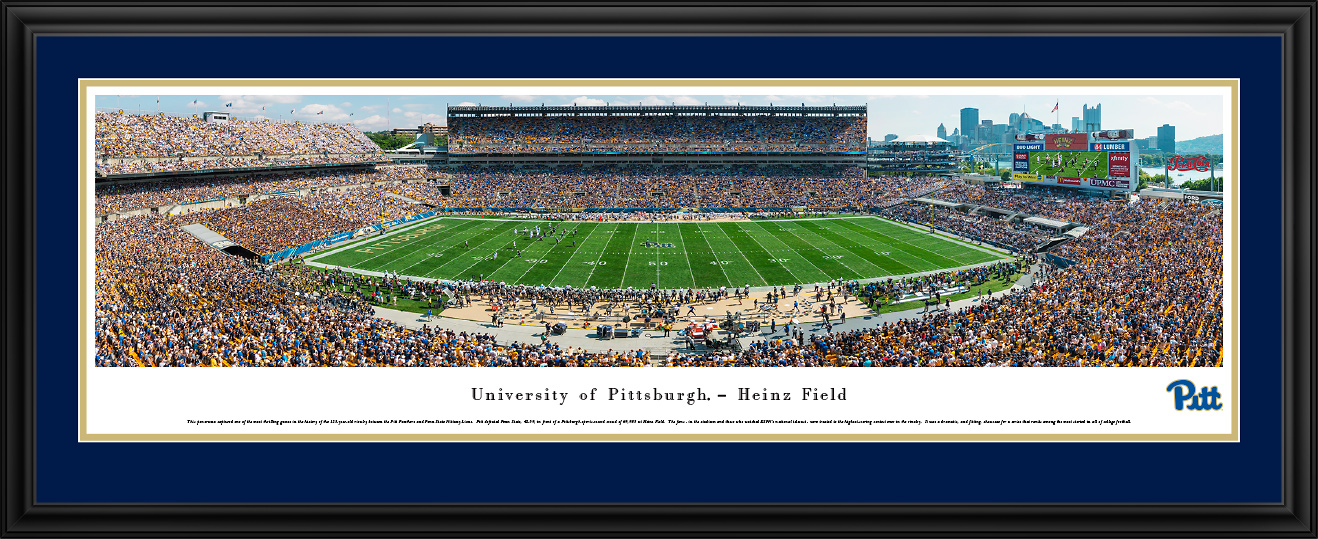 Pitt vs Penn State at Heinz Field Panorama Poster - the Stadium Shoppe