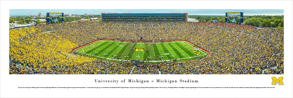 Michigan Wolverines at Michigan Stadium Panorama Poster