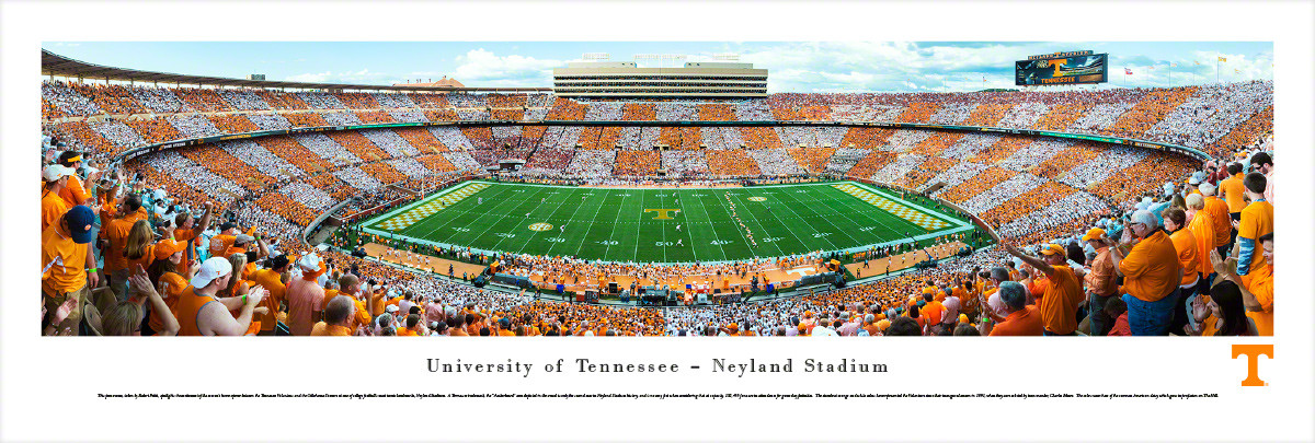 Tennessee Volunteers At Neyland Stadium Panorama Poster