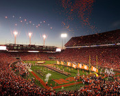 Clemson Tigers at Memorial Stadium Poster