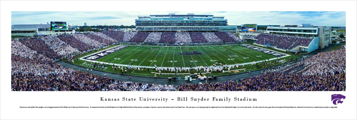 """Stripe-Out"" Kansas State Wildcats at BSFF Stadium Panorama"