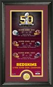 Washington Redskins Super Bowl 50th Anniversary Photo Mint