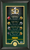 Green Bay Packers Super Bowl 50th Anniversary Photo Mint