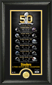 Pittsburgh Steelers Super Bowl 50th Anniversary Photo Mint
