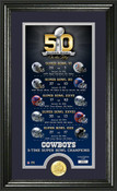 Dallas Cowboys Super Bowl 50th Anniversary Bronze Coin Supreme P
