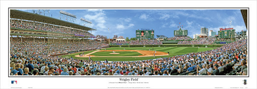 """Wrigley Field"" Chicago Cubs Panoramic Poster"