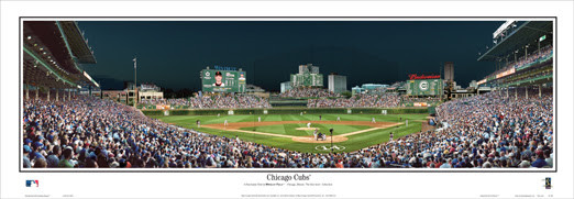 """Chicago Cubs"" Wrigley Field Panoramic Poster"