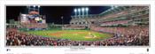 """Cleveland Indians"" Progressive Field Panoramic Framed Poster"