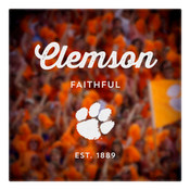 Clemson Faithful Wall Art Art