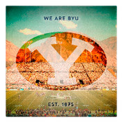 We are Brigham Young University  Wall Art