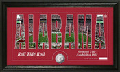 "Alabama Crimson Tide ""Silhouette"" Photo Mint"