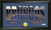 "Boise State Broncos ""Word Art"" Panoramic Photo Mint"