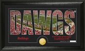 "Georgia Bulldogs ""Word Art"" Panoramic Photo Mint"
