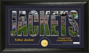 "Georgia Tech Yellow Jackets ""Silhouette"" Photo Mint"