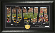 "Iowa Hawkeyes ""Word Art"" Panoramic Photo Mint"