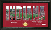 "Indiana Hoosiers ""Word Art"" Panoramic Photo Mint"