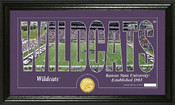 """Kansas State Wildcats """"Word Art"""" Panoramic Photo Mint"""