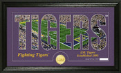 "LSU Tigers ""Word Art"" Panoramic Bronze Coin Photo Mint"