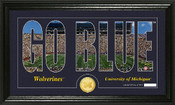 "Michigan Wolverines ""Word Art"" Panoramic Photo Mint"