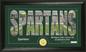 "Michigan State Spartans ""Silhouette"" Photo Mint"