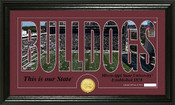 "Mississippi State Bulldogs ""Word Art"" Panoramic Photo Mint"