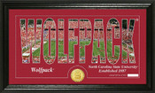"North Carolina Wolfpack ""Word Art"" Panoramic Photo Mint"