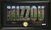 "Missouri Tigers ""Word Art"" Panoramic Photo Mint"