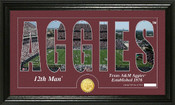 "Texas A&M Aggies ""Word Art"" Panoramic Photo Mint"