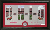 "Ohio State Buckeys ""Silhouette"" Minted Coin Panoramic Photo Mint"
