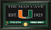 "Miami Hurricanes ""Man Cave"" Photo Mint"