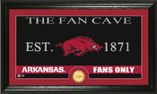 "Arkansas Razorbacks ""Fan Cave"" Photo Mint"
